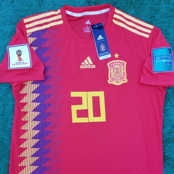 4250462d6 adidas Shirts | 2018 Spain Soccer Jersey Asensio | Poshmark